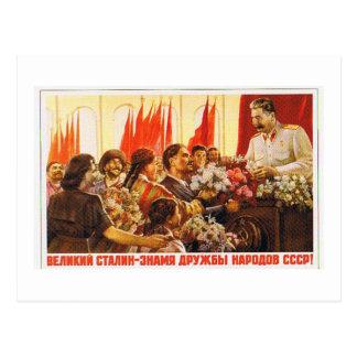 stalin leader of ussr postcards
