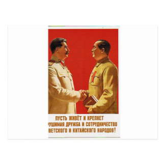 stalin meet chairman mau post cards