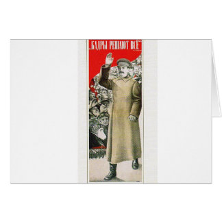 stalin the leader ussr greeting card