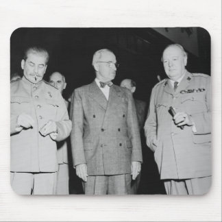 Stalin, Truman, And Churchill -- WW2 Photo Mouse Pad