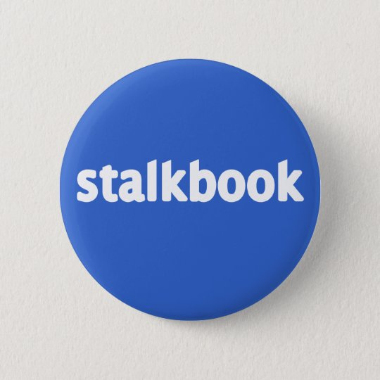 stalkbook 6 cm round badge