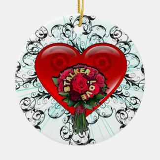 Stalker Love Round Ceramic Decoration