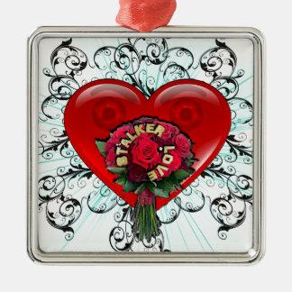 Stalker Love Silver-Colored Square Decoration