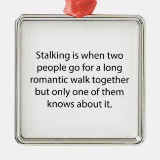 Stalking Romantic Walk Silver-Colored Square Decoration