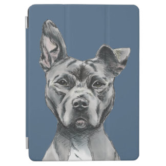 Stalky Pit Bull Dog Drawing iPad Air Cover