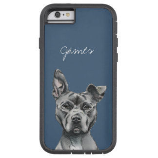 Stalky Pit Bull Dog Drawing Tough Xtreme iPhone 6 Case