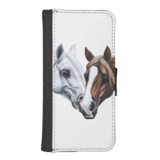 stallion and mare phone wallet case