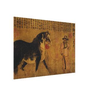 Stallion with Groom Canvas Prints