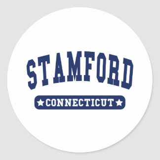 Stamford Connecticut College Style tee shirts Round Sticker