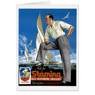 Stamina Self-Supporting Trousers Greeting Card