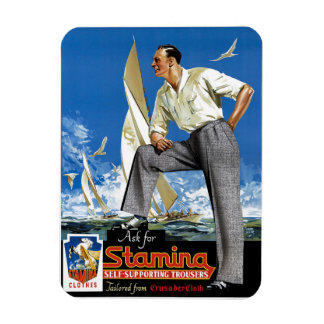 Stamina Self-Supporting Trousers Rectangular Photo Magnet