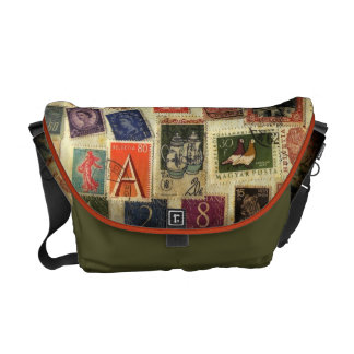 Stamp Collection Medium Messenger Bag