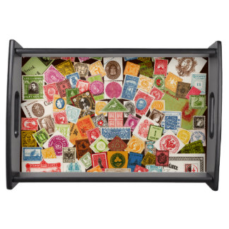 Stamp Collector Serving Tray