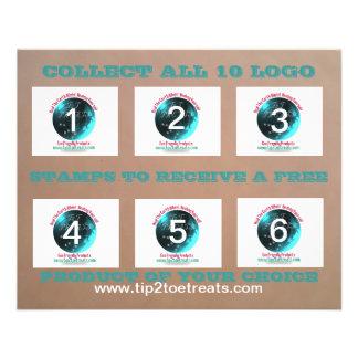 Stamp Coupon Book Flyer Design