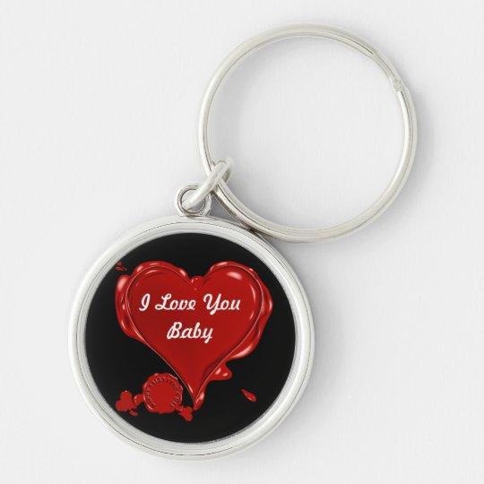 Stamp Heart Keychain