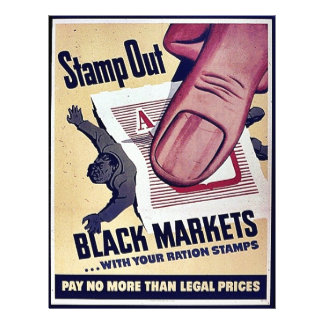 Stamp Out Black Markets With Your Ration Stamps Flyer Design