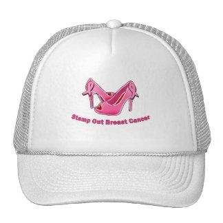 Stamp Out Breast Cancer Stilettos Mesh Hat