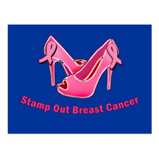 Stamp Out Breast Cancer Stilettos Postcard