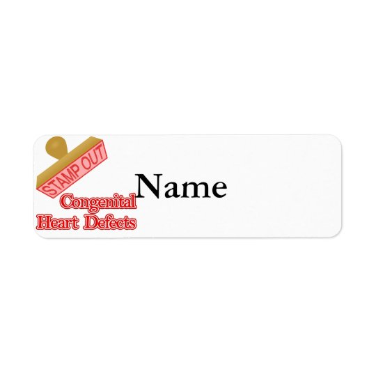 Stamp Out Congenital Heart Defects Return Address Label