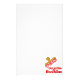 Stamp Out Congestive Heart Failure Personalized Stationery