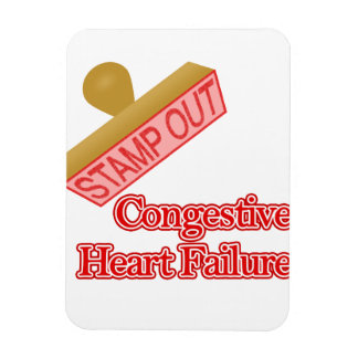 Stamp Out Congestive Heart Failure Rectangular Photo Magnet