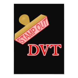 Stamp Out DVT 5x7 Paper Invitation Card