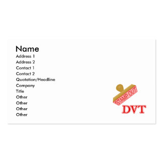 Stamp Out DVT Pack Of Standard Business Cards