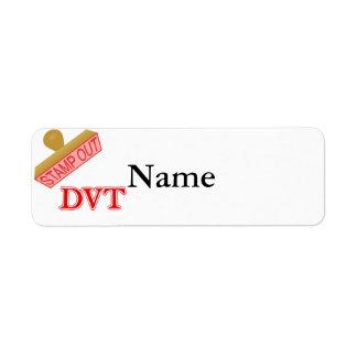 Stamp Out DVT Return Address Label