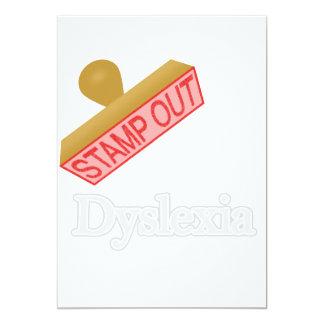 Stamp Out Dyslexia 13 Cm X 18 Cm Invitation Card