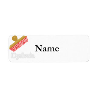Stamp Out Dyslexia Return Address Label