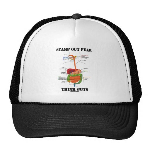 Stamp Out Fear Think Guts (Digestive System) Hat