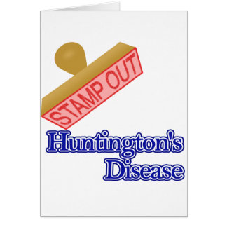 Stamp Out Huntington's Disease Note Card