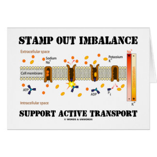 Stamp Out Imbalance Support Active Transport Greeting Card