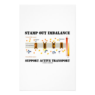 Stamp Out Imbalance Support Active Transport Customized Stationery