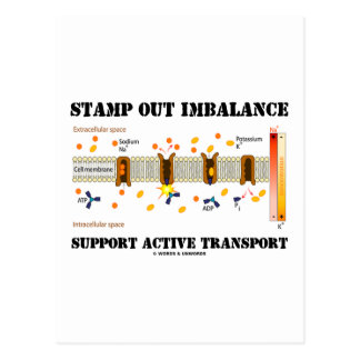 Stamp Out Imbalance Support Active Transport Post Card