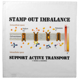 Stamp Out Imbalance Support Active Transport Printed Napkins