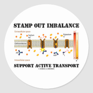 Stamp Out Imbalance Support Active Transport Round Stickers