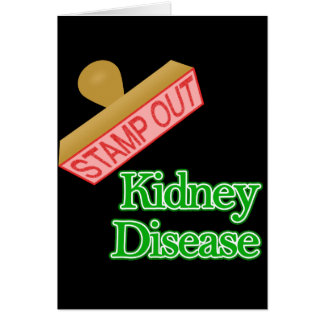 Stamp out Kidney Disease Note Card
