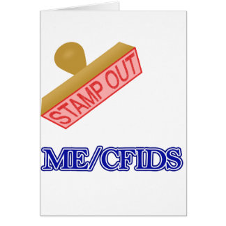 Stamp Out ME-CFIDS Note Card