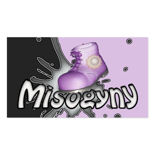 Stamp Out Misogyny Personalized Business Cards