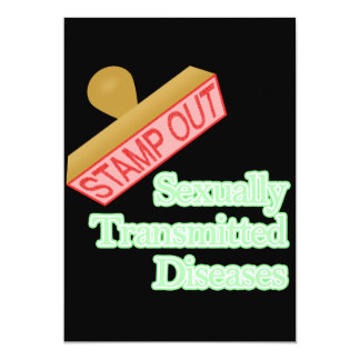 Stamp Out Sexually Transmitted Diseases 13 Cm X 18 Cm Invitation Card
