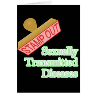 Stamp Out Sexually Transmitted Diseases Note Card