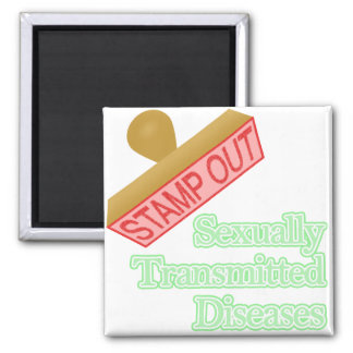 Stamp Out Sexually Transmitted Diseases Square Magnet