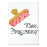 Stamp Out Teen Pregnancy 13 Cm X 18 Cm Invitation Card
