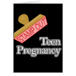 Stamp Out Teen Pregnancy Note Card