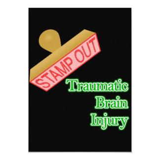 Stamp Out Traumatic Brain Injury 13 Cm X 18 Cm Invitation Card