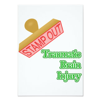 "Stamp Out Traumatic Brain Injury 5"" X 7"" Invitation Card"