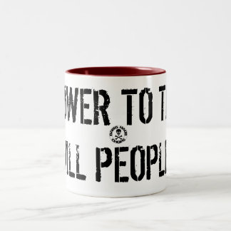 stamp, POWER TO THE HILL PEOPLE! Two-Tone Mug