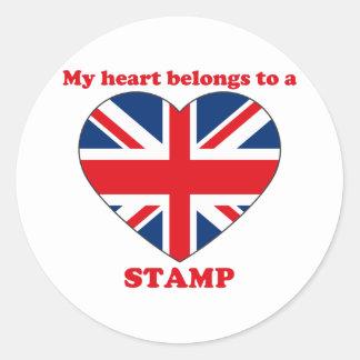 Stamp Round Stickers