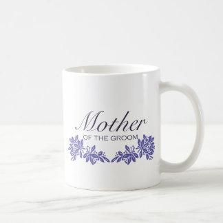 Stamped Floral Mom of Groom Coffee Mugs
